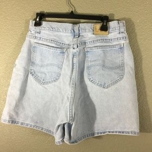 Lee High Waist Bleached Mom Shorts Sz 16 Vintage